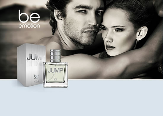 30% OFF no delicioso sedutor e contemporâneo perfume JUMP, BE Emotion - masculino. De R$129,95 por R$ 90